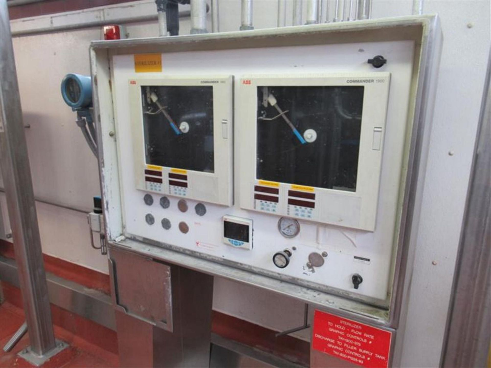 Lot 360 - Control panel for #1 with (2) ABB Commander 1900 chart recorders, plus CM30 process controller,