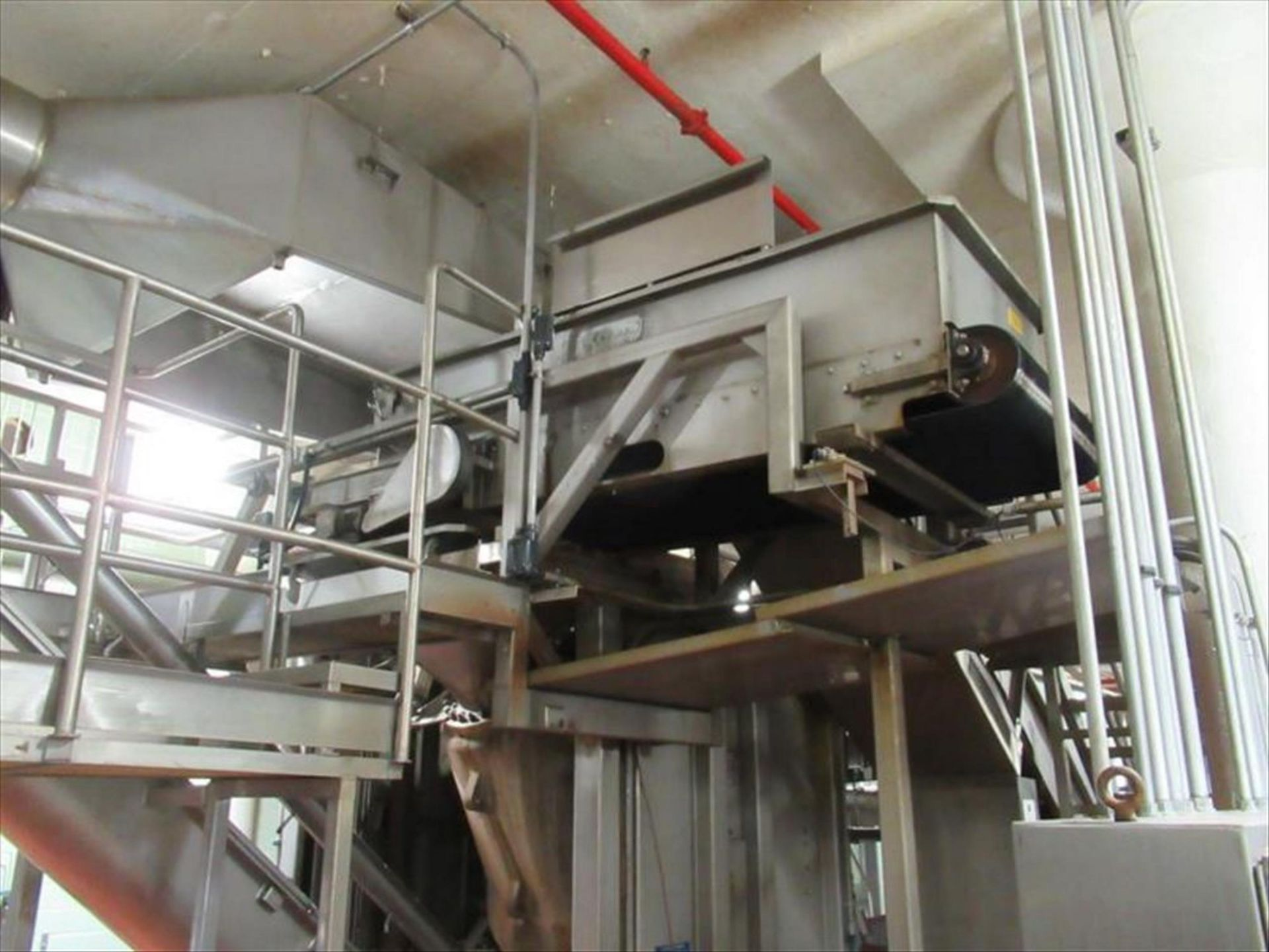 Lot 162 - Starr Weigh table conveyor 3 ft w x 6 ft l x 2 ft h, with rubber v-belt, Flintec -SB145KLB-CUC3 load