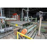 """Lot 58 - 66"""" X 120"""" CANTED ROLLER CONVEYOR WITH IN-FEED PINCH ROLL FEEDER (CI)"""