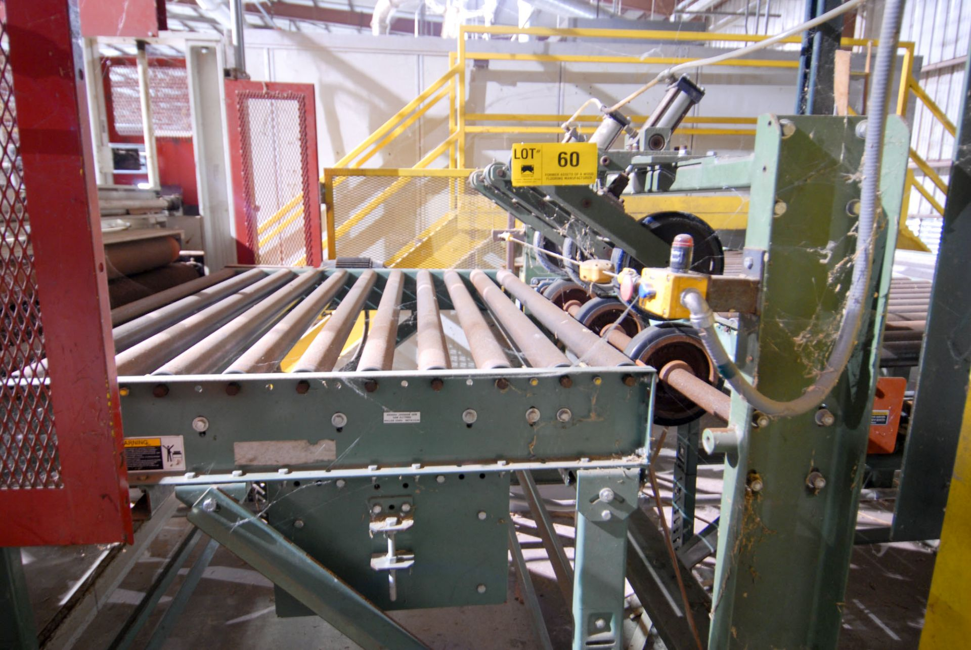 """Lot 60 - 48"""" X 66"""" OUT-FEED ROLLER CONVEYOR WITH PINCH ROLL FEEDER (CI)"""