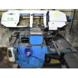 """JAESPA W260DC PORTABLE HORIZONTAL BAND SAW WITH 12""""X18"""" CAPACITY, CONVENTIONAL VISE, COOLANT,"""