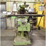 """ACCUTEC 2500M UNIVERSAL MILLING MACHINE WITH 14""""X61"""" TABLE, SPEEDS TO 2160 RPM, 15 HP, ISO 40"""
