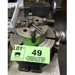 """LOT/ 10"""" ROTATORY TABLE WITH TAILSTOCK & 6"""" 4 JAW CHUCK"""