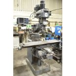 """LAGUN FTV-2S VERTICAL TURRET MILLING MACHINE WITH 10""""X50"""" TABLE, SPEEDS TO 4200 RPM INFINITELY"""
