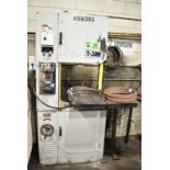"""T-JAW MODEL 500 BI-METAL VERTICAL BAND SAW WITH 27""""X29"""" TILT TABLE, 19"""" THROAT, 15"""" MAX WORK PIECE"""