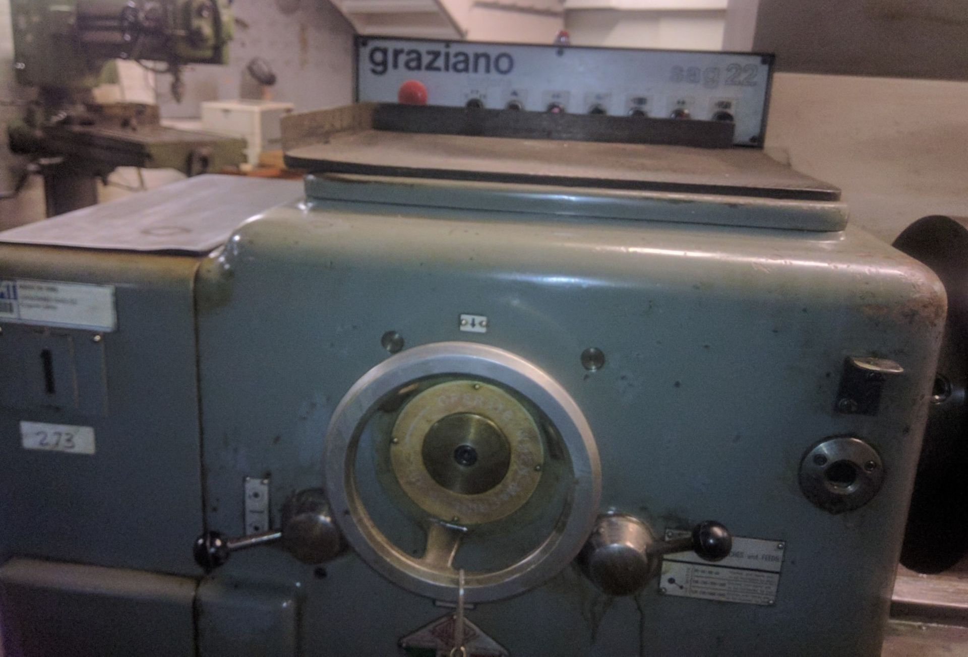 "Lot 21 - GRAZIANO SAG 22 ENGINE LATHE WITH 24"" SWING OVER BED, 72"" BETWEEN CENTRES"