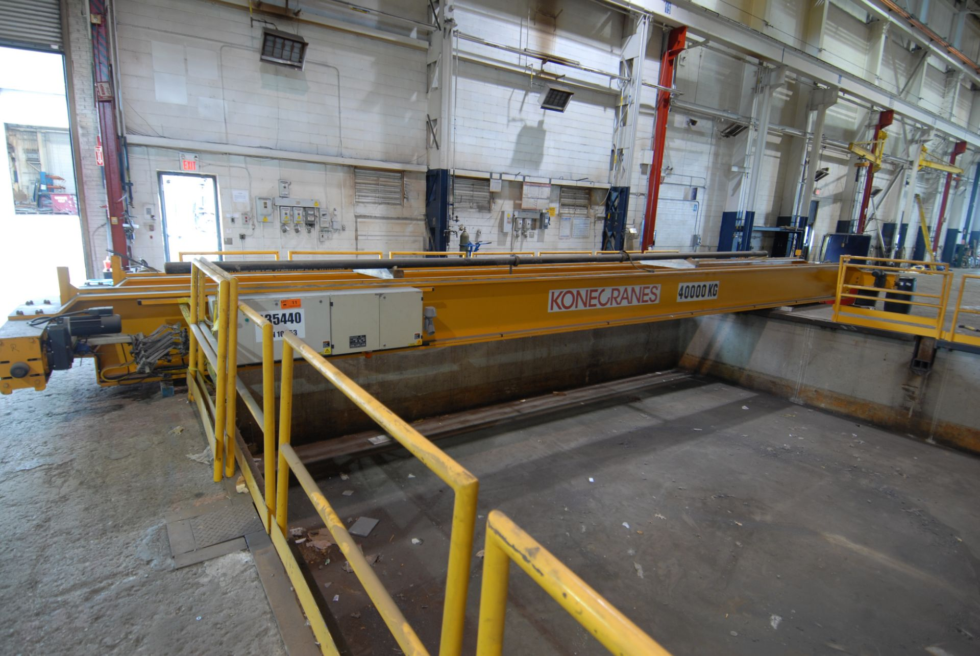 Lot 11 - KONE CRANES 40 TON CAPACITY SINGLE GIRDER CRANE WITH APPROX 50' SPAN, S/N 10853