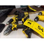 LOT/ DEWALT CORDLESS DRILLS WITH CHARGERS