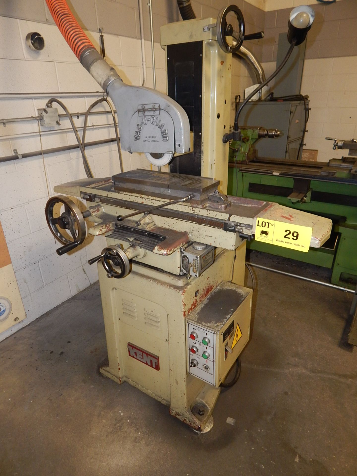 "Lot 29 - KENT KGS-618 MANUAL SURFACE GRINDER WITH 6""X18"" MAGNETIC CHUCK, S/N