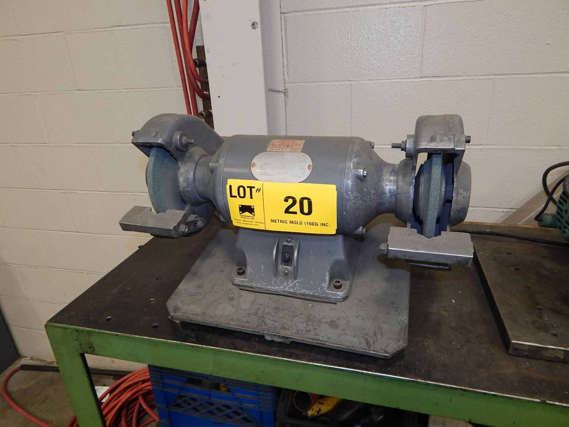 Lot 20 - DOUBLE END BENCH GRINDER, S/N: N/A (BUILDING 2)