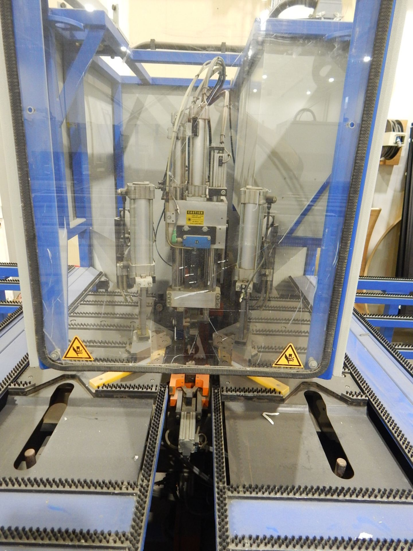 """STURTZ (2003) SE-4AS-TC CNC CORNER CLEANER WITH PC BASED CNC CONTROL, 48""""X65"""" TABLE WITH BRISTLE - Image 3 of 5"""