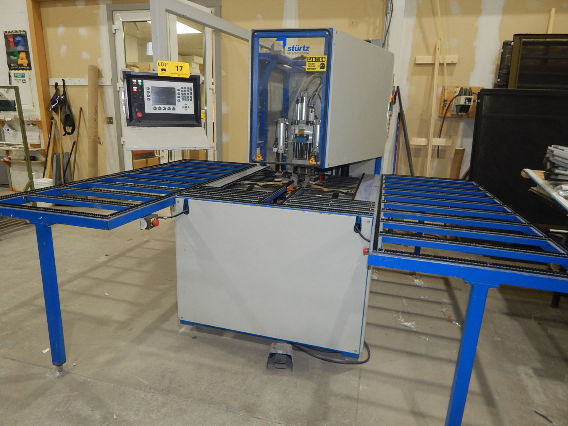 """STURTZ (2003) SE-4AS-TC CNC CORNER CLEANER WITH PC BASED CNC CONTROL, 48""""X65"""" TABLE WITH BRISTLE - Image 5 of 5"""