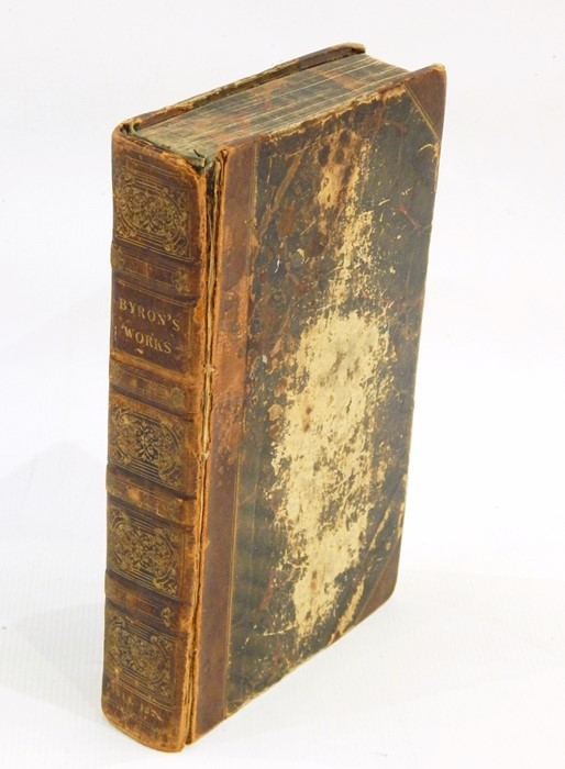 "Lot 6 - ""The Works of Lord Byron including the suppressed poems, complete in one volume"", Paris, pub A & W"