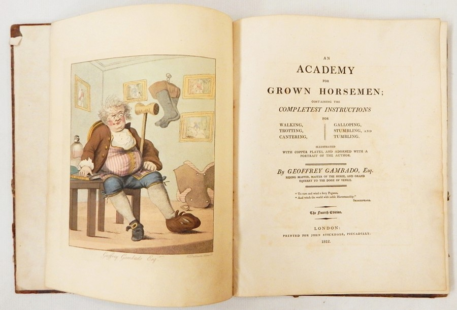 "Lot 54 - Gambado, Jeffrey ""An Academy for Grown Horsemen ..."", London, John Stockdale 1812 (4th edition),"