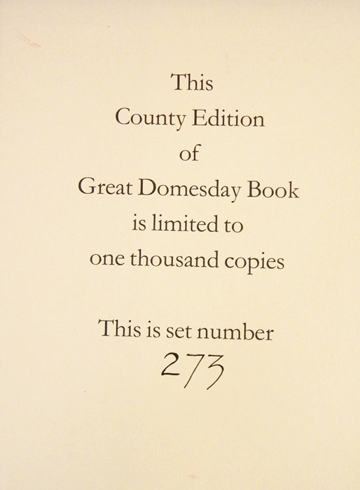 Lot 52 - Facsimile edition of The Doomsday Book for Warwickshire, no.273 limited to 1,000 copies, Alecto
