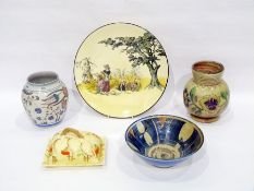 Various items of pottery to include a Royal Doulton mug inscribed 'Farmer Ale Style & Winch Ltd'