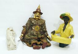 Marionette modelled as an Eastern gentleman enriched in gilding, dressed in an elaborate sequinned