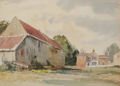 Attributed to Edward Billin (1911-1995) Watercolours Country Scenes (3)