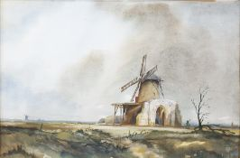 Graham Goodman Watercolour 'St Bennetts Abbey' together with two further (3)