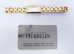 Franklin Mint wristwatch, an Avia wristwatch, Michel Herbelin lady's gold plated wristwatch. boxed