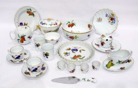 Royal Worcester 'Evesham Gold' part dinner service, printed marks, printed with vignettes of