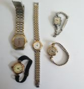 Nivada gold cased lady's wristwatch, together with an early 9ct. gold cased lady's wristwatch and
