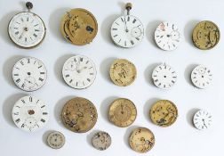 A quantity of pocket watch movements, various