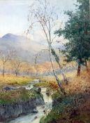 Albert Kinsley (1852-1945) Watercolour Landscape, signed lower right, 34 x 24 cm