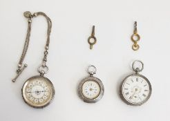 Three late 19th century silver cased pocket watches, various Condition ReportSee additional