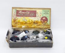 'Henselite' (Junior) carpet bowlswith eight bowling bowls, made in Australia, with box