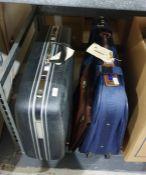 Samsonite hard suitcase, a soft suitcaseand a small leather attache document case (3)