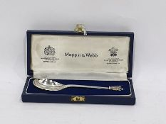 Silver Royal Wedding spoonfrom 9th July 1981, Prince of Wales and Lady Diana Spencer, by Mappin &