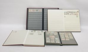 Box containing assorted albums of various stamps, mainly 20th century examples and featuring UK