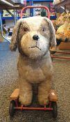 Vintage Pedigree Soft Toys LTD., push along dog