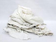 A quantity of linen and various christening robes and childrens cotton under garments, Edwardian and
