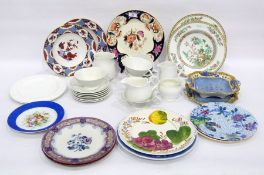Quantity of English pottery and porcelain to include five Shelley white Art Deco cups and six