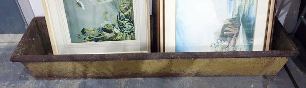 Large cast iron water trough 183 x 46 cms