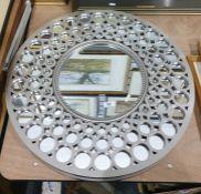 Two circular wall mirrors(2)