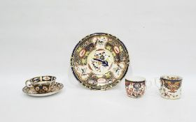 Group of Derby Imari pattern wares, to include a plate, circa 1900, printed and impressed marks,