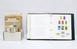 New Zealand stamp album mounted with stamps ranging from one penny 1867 through to the 1980s and