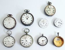 Quantity of old pocket watches, various (7)