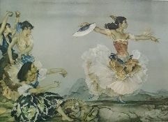 After Sir William Russell Flint Colour print Flamenco dancer, signed in pencil lower right
