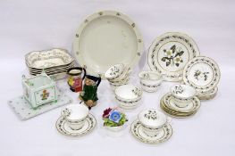 20th century Royal Worcester 'Bernina' pattern part tea service, printed black marks, printed with