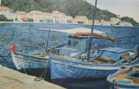 After M Wood Limited edtion colour prints 307/650 'Fishing boats' signed in pencil lower right, t
