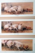 """After Patrick Oxenham Colour print limited edition """"Dance Le Can-Can"""" together with two further"""
