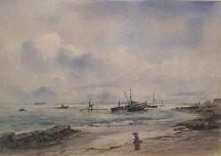Stuart Gray (b.1957) Watercolour Whitstable, signed lower left, 37 x 54 cm