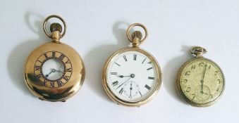 An Elgin Wadsworth gold plated pocket watch 1920's/'30's with a subsidiary second hand dial, face