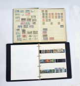 Miscellaneous lot of stamps and covers including sparsely filled Cyprus album ( 1 box)
