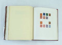 GB collection in red album to include 9 1D plaques, plate 1-8 with red and black Maltese crosses,