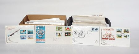 Box of Jersey First Day Covers anda small crate of other GB First Day Covers ( 2 boxes)